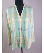 Anthropologie Holding Horses Tiby button down blouse pastel color long s... - $27.72