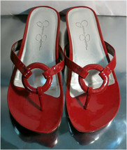 Jessica Simpson JS - Florie, Mesh Red Thong Style Flats / Sandals, Size 7B - $39.83