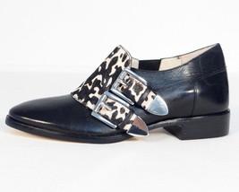 Michael Michael Kors Black Leather Hair Calf Flat Shoes 5 1/2 M NEW - $74.24