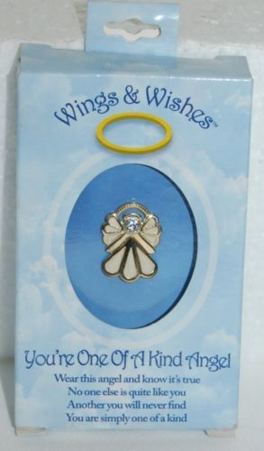 DM Merchandising Wings Wishes Pinning Angel Gold White Colored WGW3-YOKIND