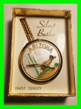 UNIQUE Vintage Mini Metal Silent Butler AZ Pocket Ashtray In Orginal Box... - $33.94