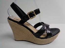 UGG Australia Size 10 JACKILYN Black Patent Leather Sandals New Womens S... - $117.81