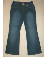 FORENZA Womans Size 8 Dark Blue Denim Pants Jeans Flare Bottom New USA - $13.64