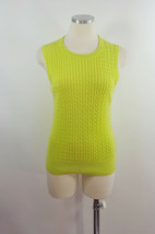 Lilly Pulitzer Sz Sm Green Cable Knit Sleeveless Sweater - $9.89