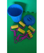 Foam paint roller set of 5 with a Small storage Trash can New - $9.00