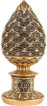 Islamic Table Decor Gold Egg Sculpture Figure Arabic 99 Names Of Allah E... - $61.70