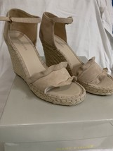Marc Fisher Womens kickoff Leather Open Toe Casual Ankle Strap, Nude, Size 9M - $54.44