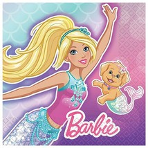Barbie Dreamtopia Dessert Napkins Birthday Party Supplies 8 Per Package New - $4.21