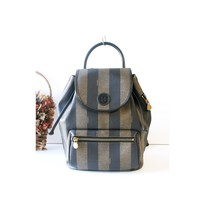 Vintage Fendi Italy PVC Leather back pack hand bag Authentic - $590.00