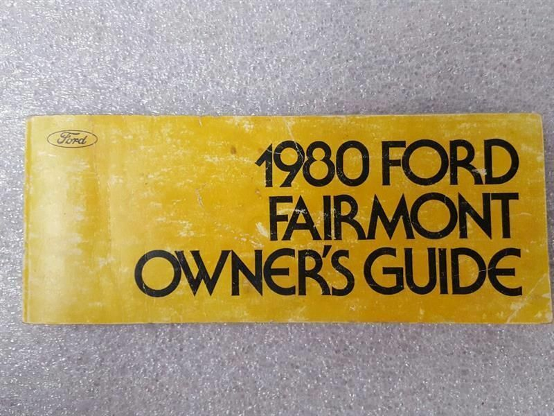 FAIRMONT  1980 Owners Manual 15912