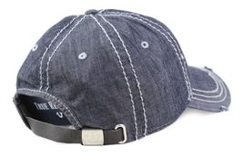 True Religion Men's Vintage Distressed Cotton Horseshoe Trucker Hat Cap TR2095 image 4