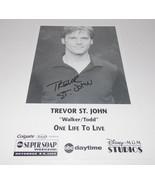 Trevor St John Autograph Reprint Photo 9x6 One Life to Live 2003 Contain... - $9.99