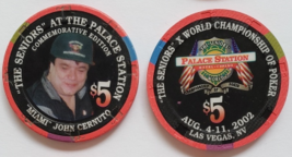The Seniors 'Miami' John Cernuto Palace Station Las Vegas $5 Commemorative Chip - $9.95