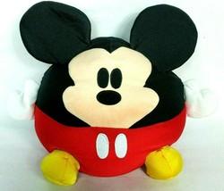"Disney World Disney Parks Mickey Mouse Round Plush Stuffed Animal 14"" - $26.42"