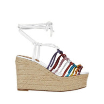 Chloe Women's Rainbow Strappy High Heel Wedges Sandals Shoes Multi Color 40 - $470.25