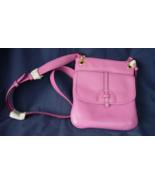 Isaac Mizrahi Live! Pebble Leather Crossbody Handbag - Mulberry Color - $26.00