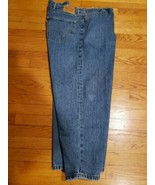 Levi's 550 Jeans 54 x 30 Zip Straight Blue Denim Strauss & Co Riveted Or... - $33.87