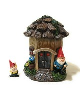 """Alpine Stump's Estate Fairy House With """"Digger"""" Gnome Figurine 7 Inch Tall - NEW - £30.80 GBP"""