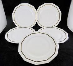 "Rosenthal ""Maria"" Gold Band Dinner Plates 9 1/2"" Louis Franz Mannheim Set Of 5 - $44.55"
