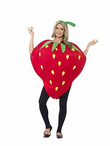 Smiffys Adult Unisex Strawberry Costume, Printed Tabard and Headpiece, Funny Sid