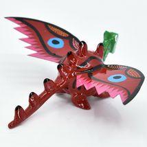 Handmade Alebrijes Oaxacan Wood Carved Folk Art Winged Dragon Bobble Head Figure image 4