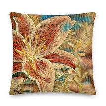 Abstract Floral Pillow, Gift for Her, Housewarming Gift - $36.99