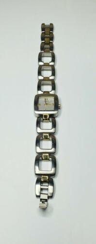 Primary image for Fossil F2 ES1252 Women's Two Tone Stainless Steel Watch Square Face