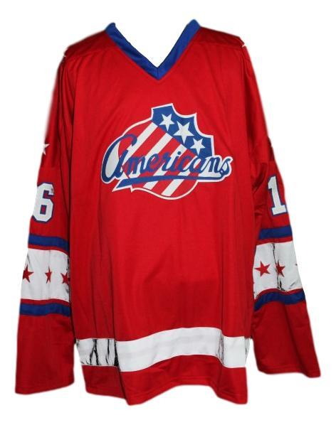 Somerville  16 rochester americans retro hockey jersey red   1