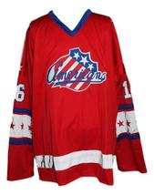 Custom Name # Rochester Americans Retro Hockey Jersey Red Somerville 16 Any Size image 1