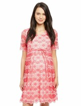 Motherhood Lace Back Cutout Maternity Dress Pink NWT Size Small - $28.96