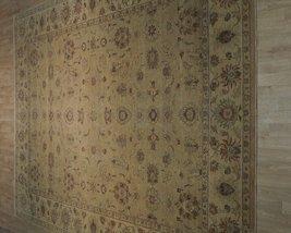 Honey Gold Wool Carpet 9' x 12' New Original Ziglar Oushak Hand-Knotted Rug image 3