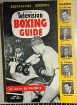TELEVISION BOXING GUIDE Photos, Biographies & Records (1954) Windsor Pre... - $9.89