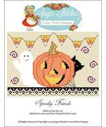 Spooky Friends halloween cross stitch chart Sug... - $7.00