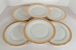 Hutschenreuther Selb 18K Gold Encrusted Salad Plate (s) LOT OF 6 - $47.47