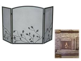 Panacea #15914 Colonial Brown Oak Leaf Design Fireplace Screen 32 x 50 x... - $68.31