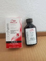WELLA COLOR CHARM Permanent Red Liquid Hair 7R/810 - $8.15