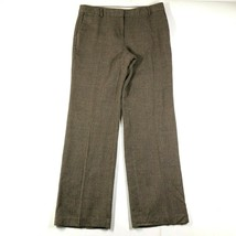 J CREW Womens 8 Wool Lined Favorite Fit Herringbone Chevron Brown Dress ... - $32.73