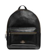 Coach Charlie Medium Rucksack F36088 Black Leather Backpack - $152.00