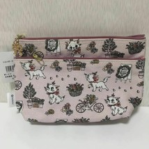 Disney ITS'DEMO Aristo Cat Marie  Makeup Pouch Accessory Case Lame Pink - $58.41