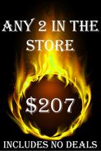 FRI-SUN PICK ANY 2 IN THE STORE $207 INCLUDES NO DEALS MYSTICAL TREASURES - $0.00