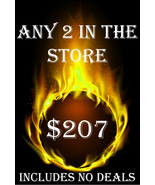FRI-SUN PICK ANY 2 IN THE STORE $207 INCLUDES NO DEALS MYSTICAL TREASURES - $0.00