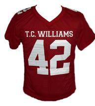 Bertier #42 T.C.Williams The Titans Movie New Football Jersey Maroon Any Size image 4