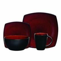 Gibson Elite Soho Lounge Reactive Glaze 16 Piece Dinnerware Set In Red; ... - $57.02