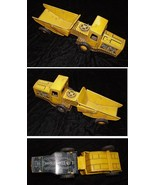Tin Litho Gravel Toy Vintage Toy Truck Construction Vehicle Made In Japan - $36.99