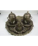 Handmade Ottoman Style Turkish Coffee set Espresso Cup&Saucer,Copper&Por... - $39.18