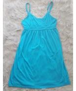 Freestyle Sun Dress Womens Size M Blue Spaghetti Strap Sleeveless Summer... - $8.59