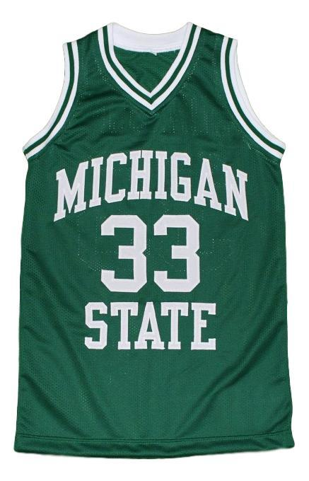 Magic johnson  33 michigan state new men basketball jersey green 1