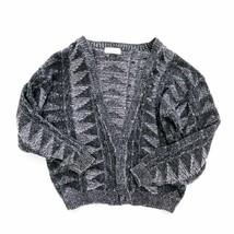 SEQUEL LTD Men's Large Cardigan Grey Pattern Knit VTG Vintage Unique SHI... - $35.00