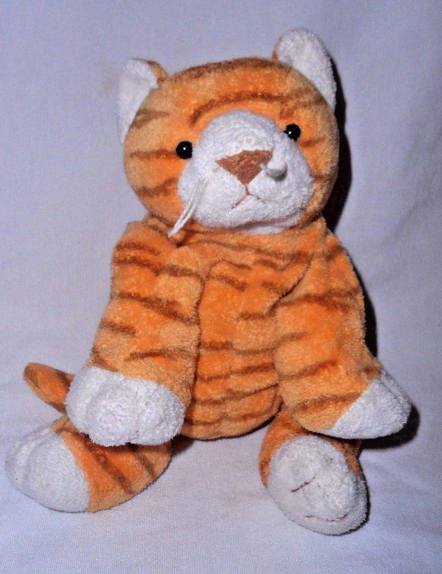 bd663c5758d 57. 57. Previous. 2003 Ty Pluffies Purrz Tabby Cat Kitten Orange White  Stripe Plush Stuffed Animal