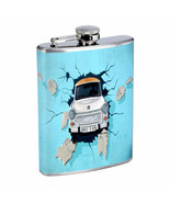 Car Crash Em1 8oz Stainless Steel Flask Drinking Whiskey Liquor - $12.82